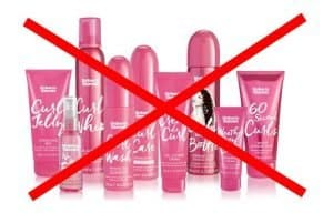 Non Curly Girl friendly Umberto Giannini Products