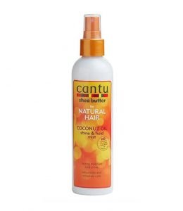 Cantu Coconut Oil Shine and Hold Mist curly girl approved