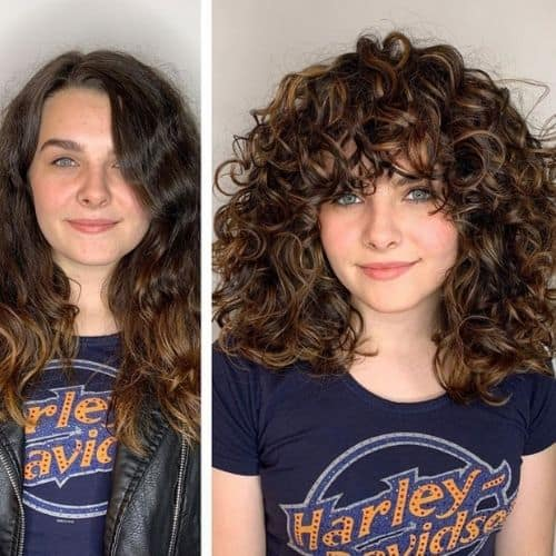 curl cut before and after transformations 3