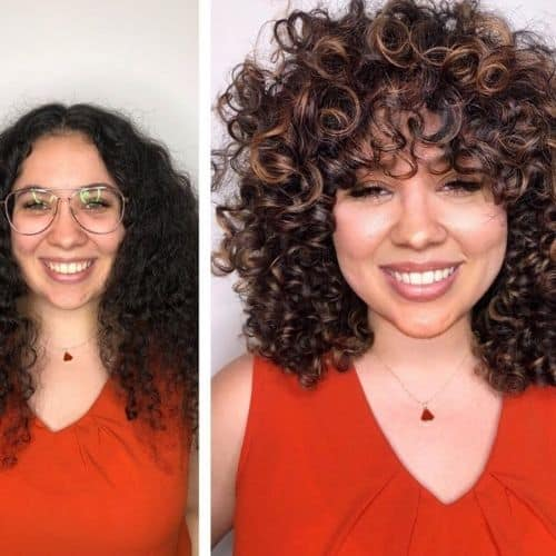 curl cut before and after transformations 4