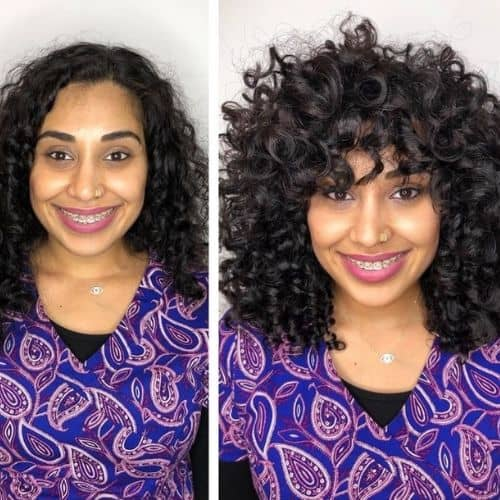 curl cut before and after transformations 5