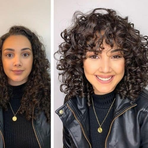 curl cut before and after transformations